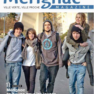 Couverture Merignac magazine n35 Sebastien Huruguen jeunes heureux adolescents lyceens etudiants