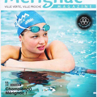 Couverture Merignac magazine n37 Sebastien Huruguen nageuse piscine SAM Mathilde Bonnet-Bellon