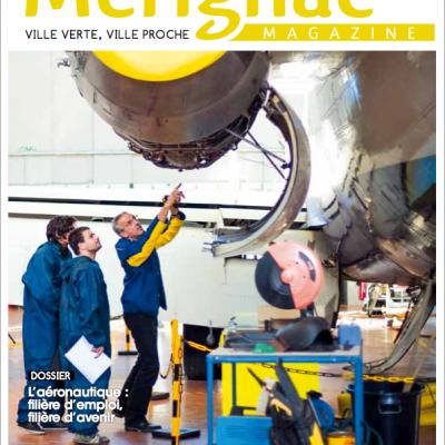 Couverture Merignac magazine n41 Sebastien Huruguen formation aeronautique maintenance avion réacteur moteur