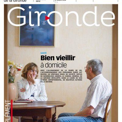 Couverture du magazine du conseil general departemental de la Gironde n°100 Sebastien Huruguen service a la personne