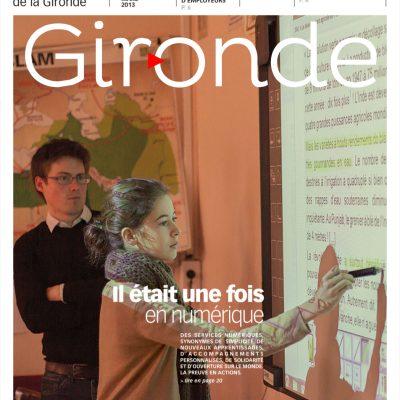 Couverture du magazine du conseil general departemental de la Gironde n101 Sebastien Huruguen enseignement numerique college