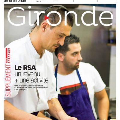 Couverture du magazine du conseil general departemental de la Gironde n104 Sebastien Huruguen pizzeria