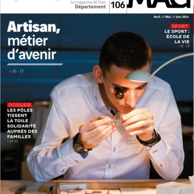 Couverture du magazine du conseil general departemental de la Gironde n106 Sebastien Huruguen horloger merignac