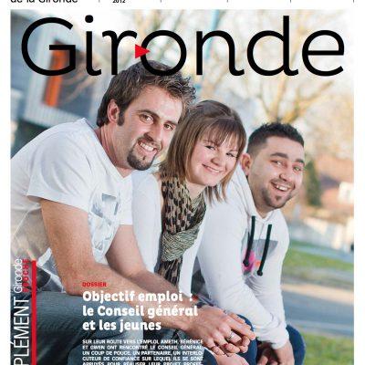 Couverture du magazine du conseil general departemental de la Gironde n98 Sebastien Huruguen