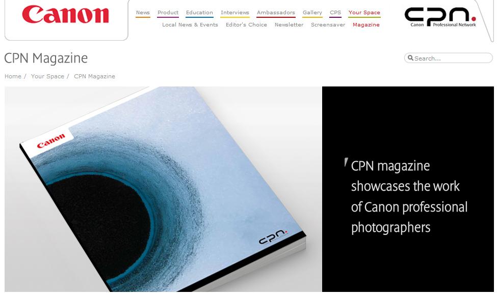 Canon Professionnal Network magazine n°6