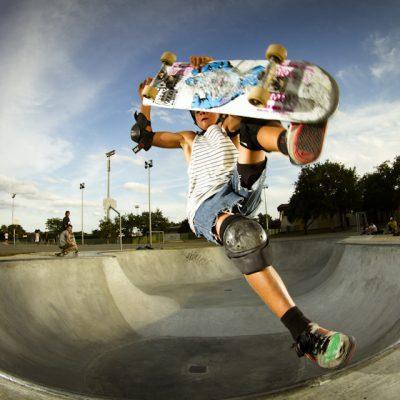 Edouard Damestoy skateaboard skatepark parc park bowl de saint medard en jalles photo fisheye flash