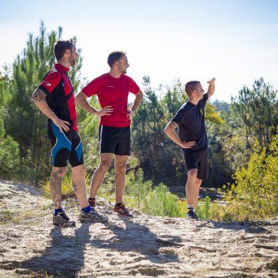 Photo des coureurs du teaser de la course a pieds Trail en Jalle de Saint Jean d'Illac le 22 novembre 2015