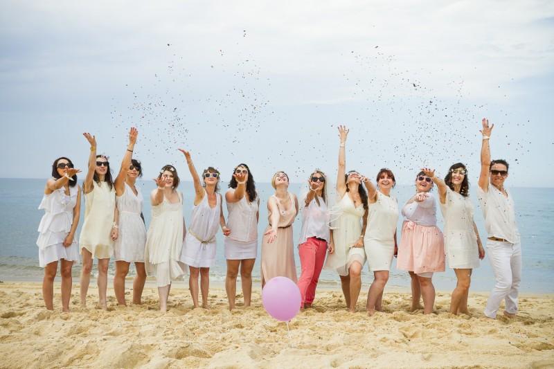 seance EVJF cap ferret dune du pyla gironde bordeaux aquitaine plage filles femmes enterrement vie de jeune fille
