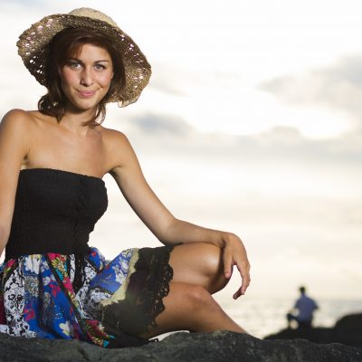 Marion-Sebastien-Huruguen-Fashion-Studio-Beach-Anglet-Plage-Girl-Dress-Summer-France-Hat-model-woman-photographer