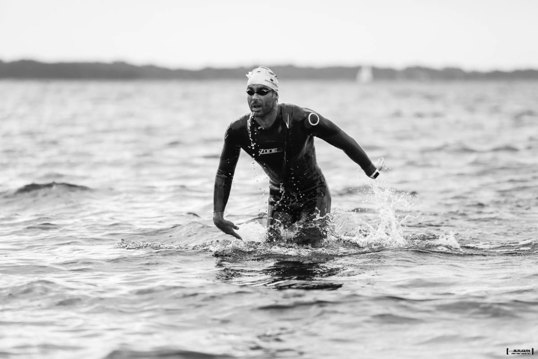 Sebastien Fraysse meilleur temps de la partie natation Scott Half Triathlon - Lacanau Tri Events 2016 | Sébastien Huruguen www.huruguen.fr