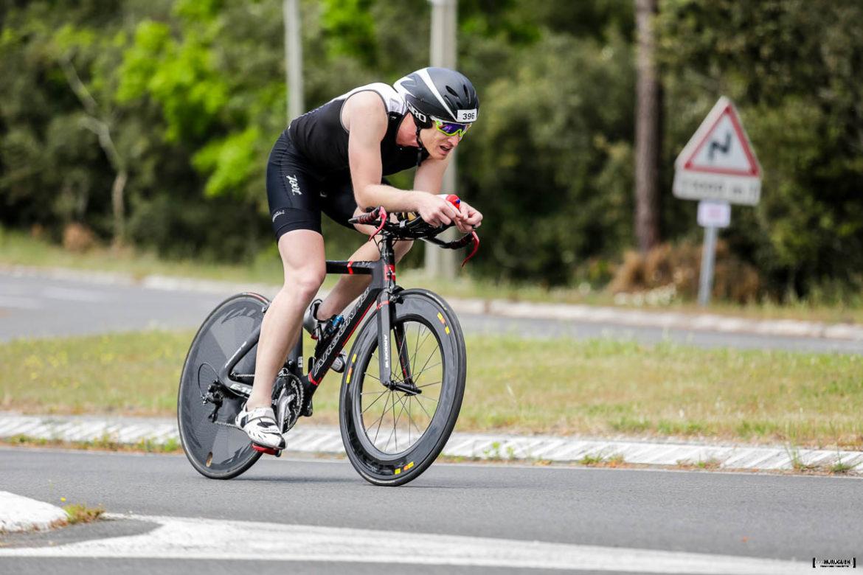 Jean Patrick Tisseau sur la partie vélo du Scott Half Triathlon - Lacanau Tri Events 2016 | Sébastien Huruguen www.huruguen.fr