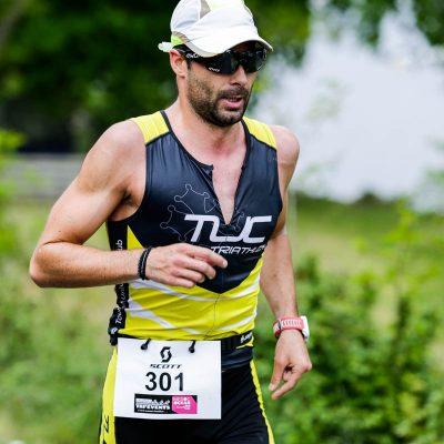 Sebastien Fraysse sur le semi marathon du Scott Half Triathlon - Lacanau Tri Events 2016 | Sébastien Huruguen www.huruguen.fr
