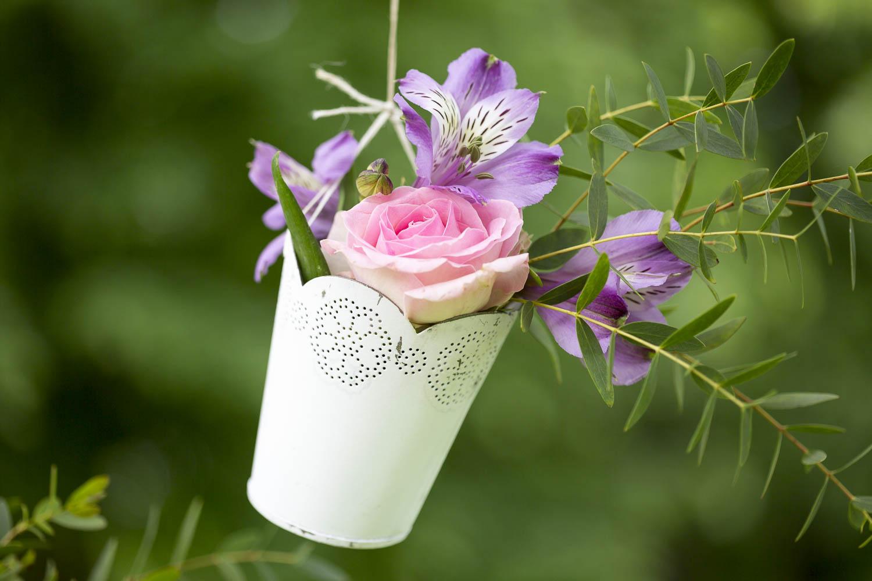 mariage, bordeaux, aquitaine, gironde, sebastien huruguen, photographe mariage, photographe mariage bordeaux, decoration, fleurs, pots, pot suspension, supendu, rose