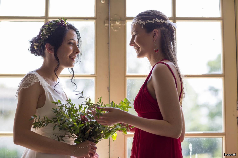 mariage, bordeaux, aquitaine, gironde, sebastien huruguen, photographe mariage, photographe mariage bordeaux, portrait, mariée, robe, couronne, fleurs