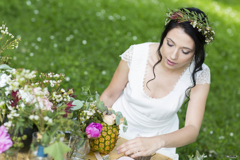 mariage, bordeaux, aquitaine, gironde, sebastien huruguen, photographe mariage, photographe mariage bordeaux, table, decoration champetre, boheme