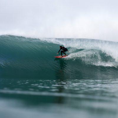 Arnaud Darrigade barrel surf step off in Hossegor - Quik Pro France 2016 | Sebastien Huruguen www.huruguen.fr