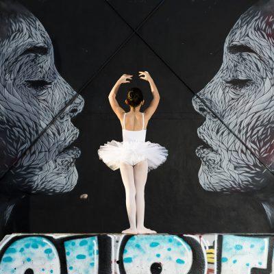 Danseuse classique ballerine ballerina Sebastien Huruguen street dance Bordeaux Darwin tag graff graffiti art