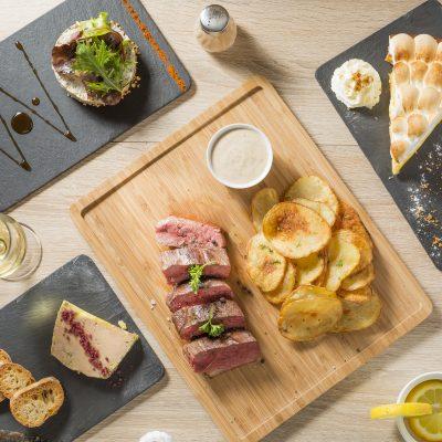 photographe-culinaire-bordeaux-restaurant-melodie-sebastien-huruguen-menu-carte-presentation-composition-vue-dessus