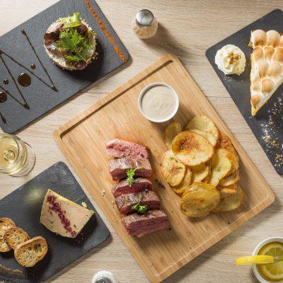 photographe-culinaire-bordeaux-restaurant-melodie-sebastien-huruguen-menu-carte-presentation-composition-vue-zenithale-verticale