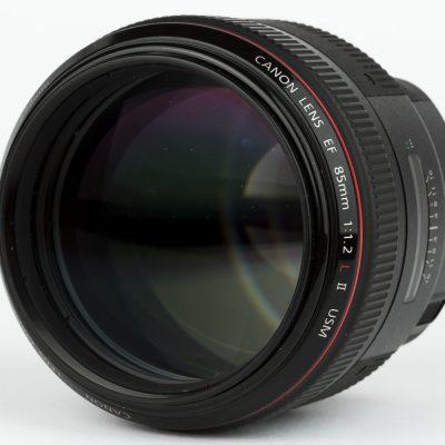 Canon EF 85mm f1.2 L USM II front lens